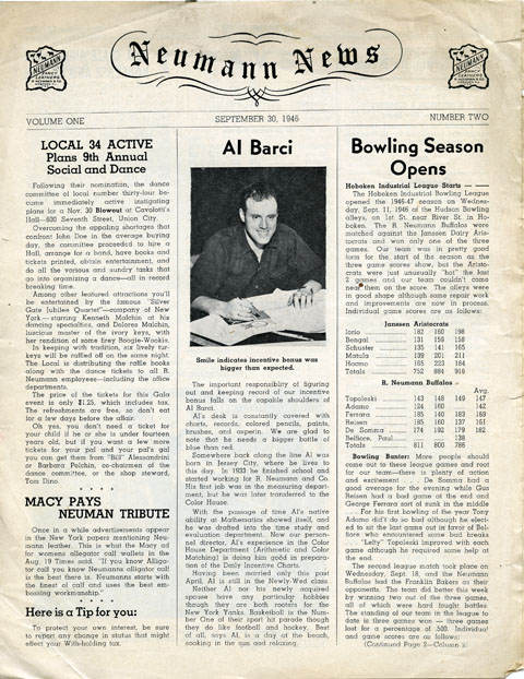 Second issue of the Neumann News, 1946
