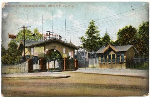 Postcard - Schuetzen Park, Union Hill. Gift of Patricia Conklin.